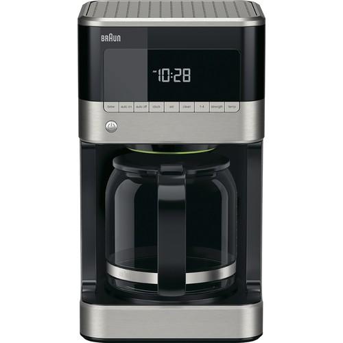 Braun - Braun BrewSense 12-Cup Coffeemaker - Black/stainless steel