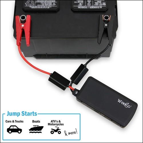Weego - JS12 Jump Starter Battery Pack+ - Black