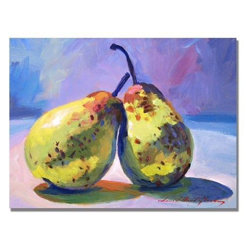 A Pair of Pears by David Lloyd Glover, 18x24-Inch Canvas Wall Art [18 by 24-Inch]