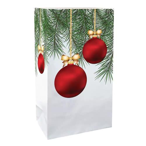 LumaBase Luminarias 24-Piece Christmas Ornament Bags