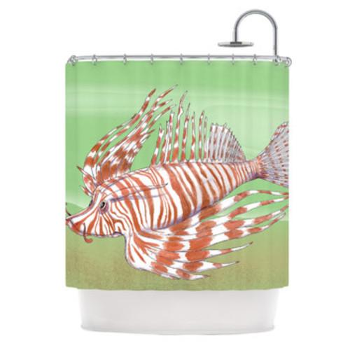 Fish Manchu Shower Curtain
