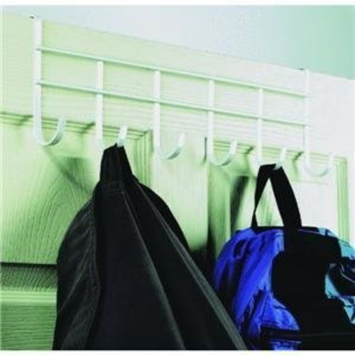 Spectrum Diversified Over the Door Coat Rack, 6-Hook, White
