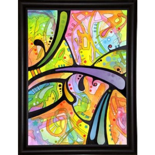 East Urban Home 'Abstract' Graphic Art Print; Bistro Espresso Framed