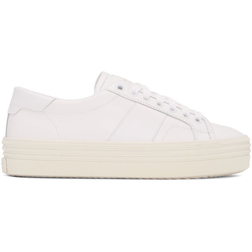 SAINT LAURENT Off-White Sl/39 Court Classic Platform Sneakers