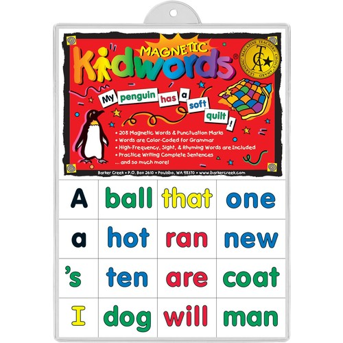 Barker Creek - Office Products Learning Magnets, Kid Words (LM-2600)