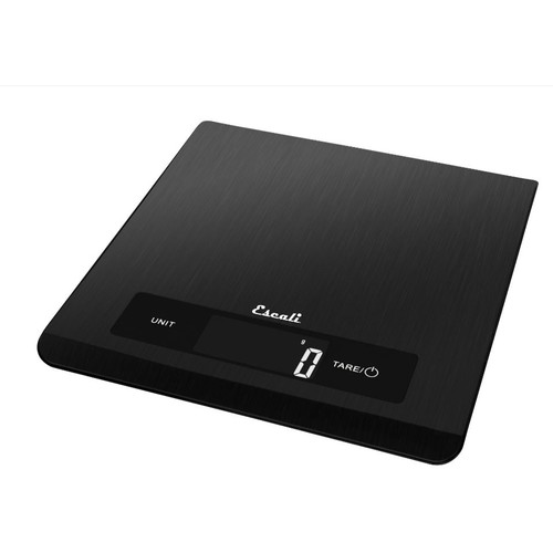 Escali - Mako Stainless Steel Touch Control Digital Kitchen Scale Black