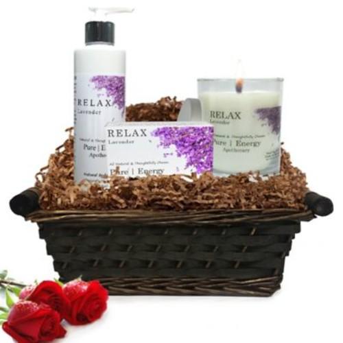 Pure Energy Apothecary Nourishing Balance Lavender Gift Set with Basket