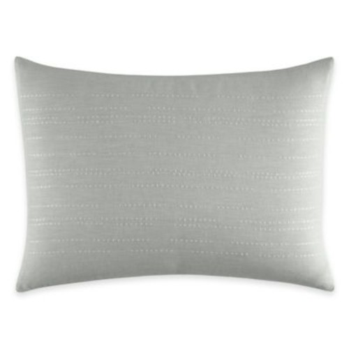 Vera Wang Home Painted Stripe Pleats Breakfast Throw Pillow in Aqua Blue