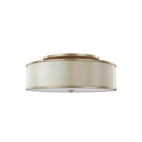 Feiss Lennon 5-Light Sunset Gold Semi-Flushmount