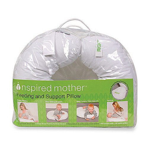 Inspired Mother Feeding and Support Pillow in White