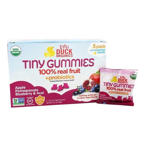 Tiny Gummies Apple, Pomegranate & Acai - 5 Pouches