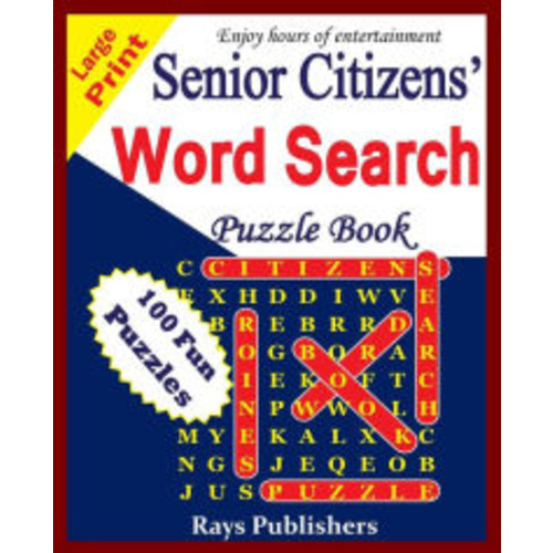 Senior Citizens' word search puzzle book