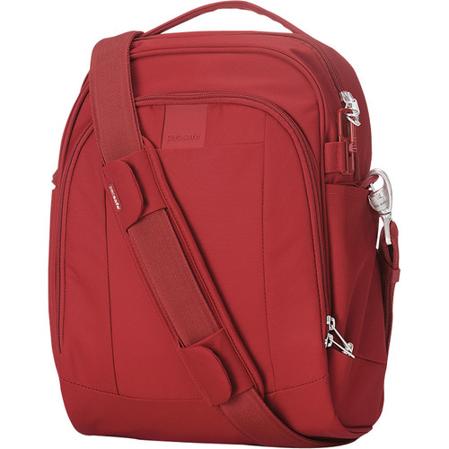 Metrosafe LS250 Anti-Theft Shoulder Bag (Vintage Red)