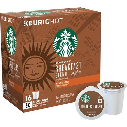 Starbucks Breakfast Blend, K-Cup for Keurig Brewers, 16 Count