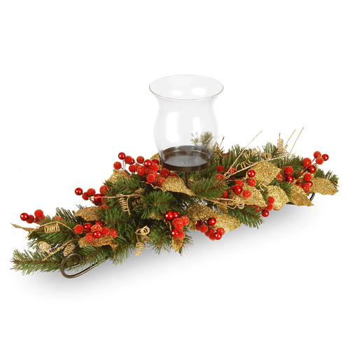 National Tree Company Artificial Berry & Leaf Vine Candle Holder