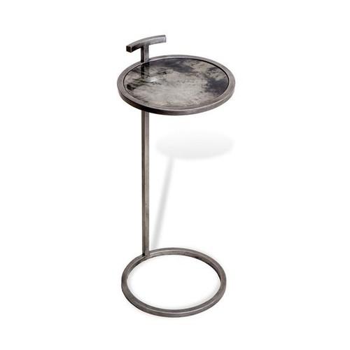 Soren Round Drink Table in Grey Vellum design by Interlude Home