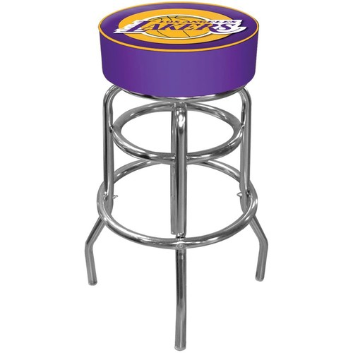 Trademark Games Los Angeles Lakers Padded Bar Stool