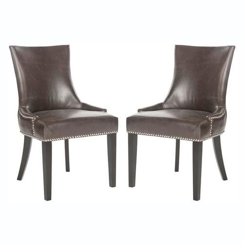 Safavieh 2-piece Lester Antique Brown Dining Chair Set