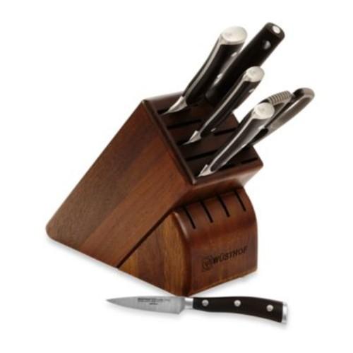 Wusthof Classic Ikon 7-Piece Walnut Knife Block Set