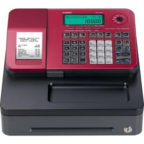 Casio SES100SCRD Cash Register, Red