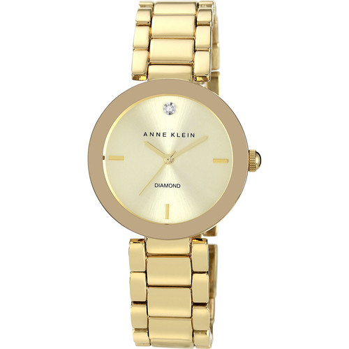 Anne Klein Gold-Tone Bracelet Watch