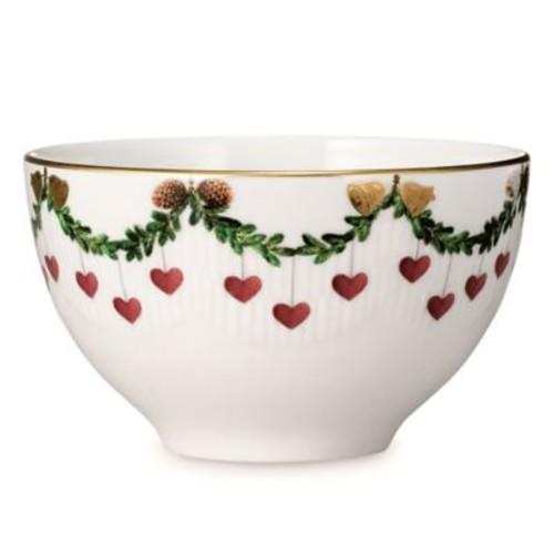 Royal Copenhagen Star Fluted Christmas Chocolate Bowl