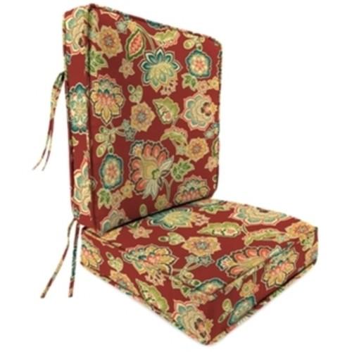 Jordan Manufacturing Spun Polyester Dejana Sangria Deep Seat Chair Cushion