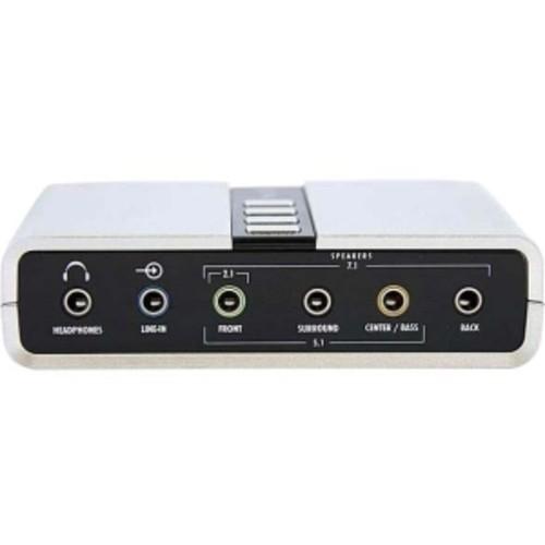 StarTech.com 7.1 USB Audio Adapter External Sound Card with SPDIF Digital Audio Sound Cards ICUSBAUDIO7D [Multi Output + Dual Mic]