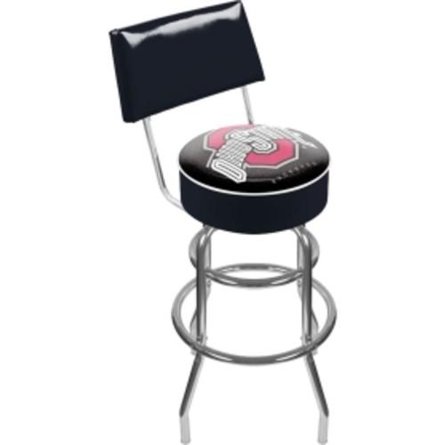 Trademark Games Ohio State Buckeyes Padded Swivel Bar Stool with Back