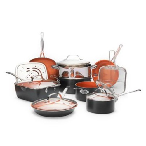 Gotham Steel Ti-Cerama Nonstick 15-Piece Cookware Set