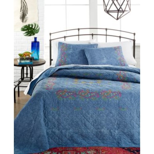 Kelly Denim Blue Twin Quilt