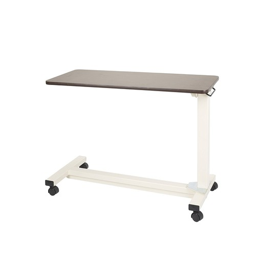 Drive Medical Bariatric Heavy Duty Overbed Table, Oak, 18