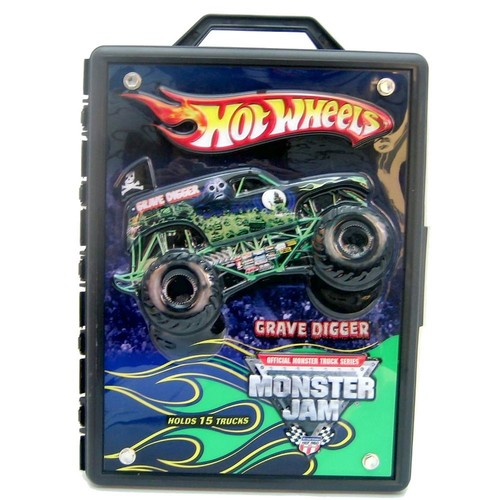 Hot Wheels Monster Jam 15- Truck Storage With Carrying Handle