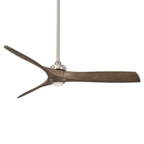 Aviation LED Ceiling Fan [Fan Body and Blade Finish : Brushed Nickel with Ash Maple blades]