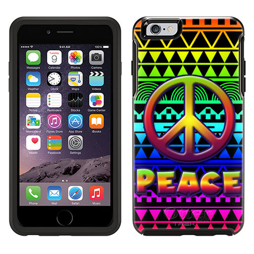 OtterBox Symmetry Apple iPhone 6 Plus Case - Peace on Aztec Rainbow Black OtterBox Case