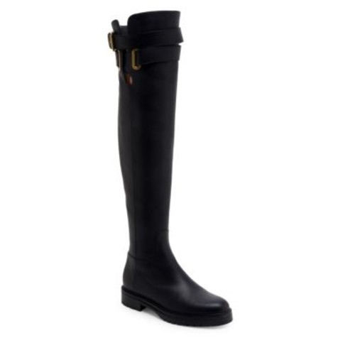 VALENTINO Bowrap Leather Over-The-Knee Boots