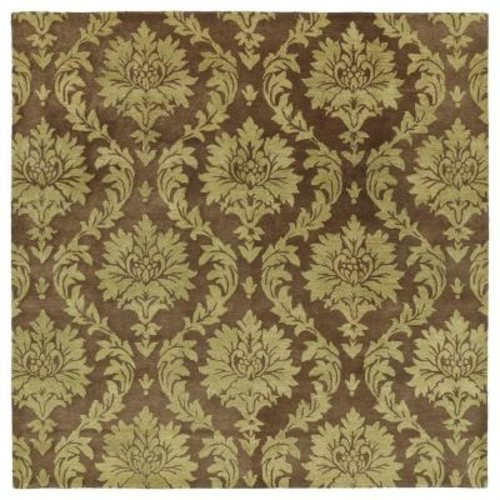 Kaleen Soho Brighton Chocolate 8 ft. x 8 ft. Square Area Rug