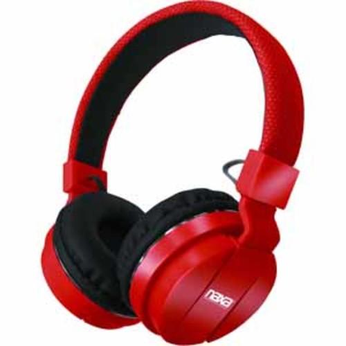 Naxa Bluetooth Wireless Stereo Headphones with Microphone - Red