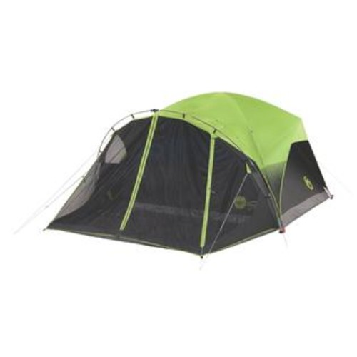 Coleman Carlsbad Fast Pitch Green Nylon 6-person Dome Tent With Screen Room