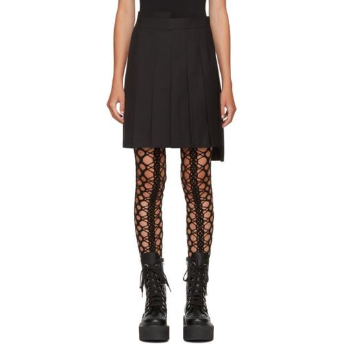 JUNYA WATANABE Black Pleated Shorts