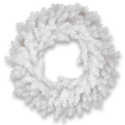 National Tree Company 30-Inch Dunhill Fir Wreath in White