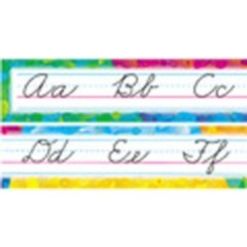 ARGUS Color Splash Zaner-Bloser Cursive Alphabet Bulletin Board Set (T-8053)