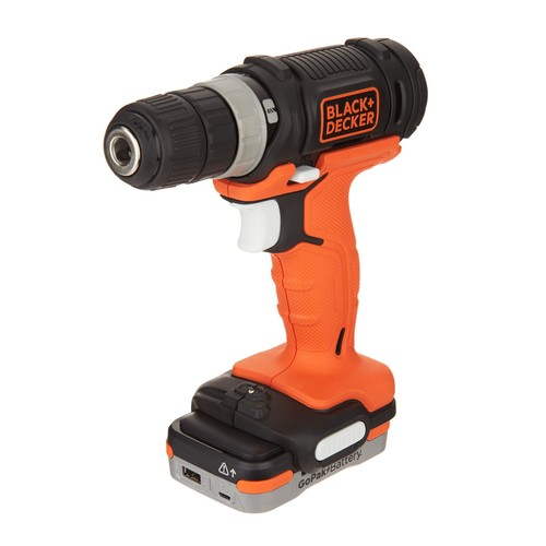 Black \u0026 Decker 12V Cordless Drill with GOPAK Battery