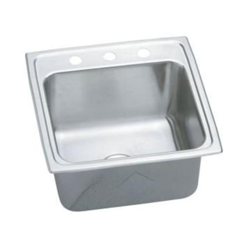 Elkay PLA1919103 18 Gauge Stainless Steel Single Bowl Top Mount Laundry/Utility Sink, 19.5