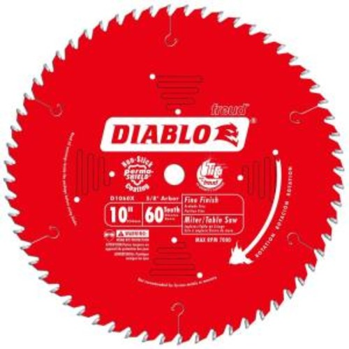 Diablo 10 in. x 60-Teeth Fine Finish Saw Blade