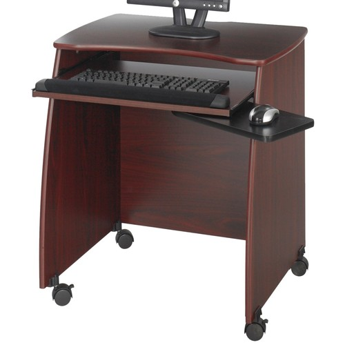 Safco Products 1953MH Picco Duo Computer Workstation with Pullout Keyboard Tray, Mahogany [Mahogany]