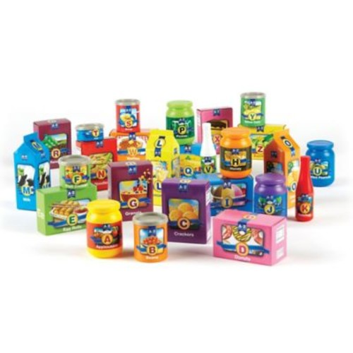 Learning Resources 26-Piece A to Z Alphabet Groceries Set