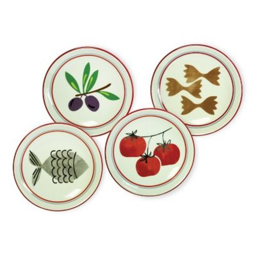 Boston International Antipasto 4 Piece Dipping Dishes Set