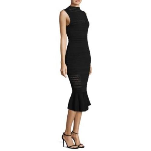 Rilla Knit Fitted Ruffle-Hem Dress