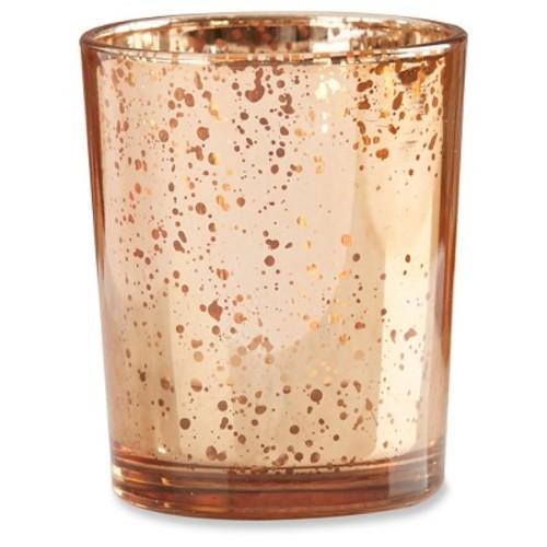 12ct Mercury Glass Tealight Holder Copper - Kate Aspen